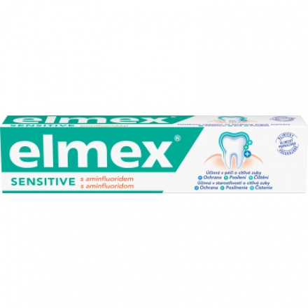 Elmex Sensitive s aminfluoridem zubní pasta, 75 ml