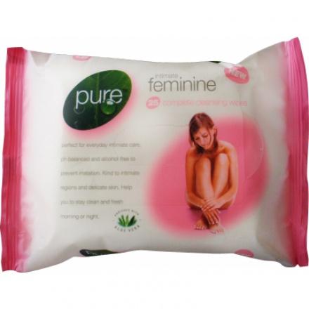 Pure Intimate Feminine intimní ubrousky Aloe Vera, 25 ks