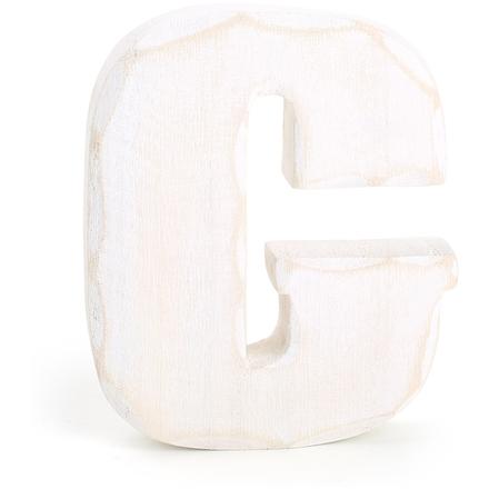 Dřevěné písmeno C bílé 1220