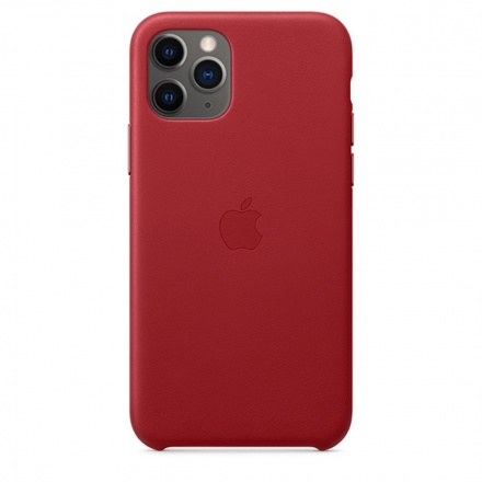 Apple iPhone 11 Pro Leather Case - (PRODUCT)RED, MWYF2ZM/A