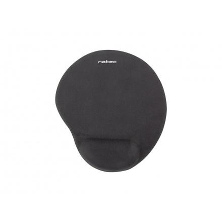 Podložka pod myš ergonomická gelová Natec Marmot, černá, 245x225 mm, Z22537