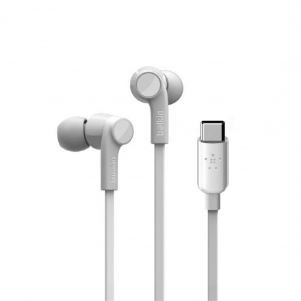 BELKIN USB-C sluchátka bílá, G3H0002btWHT