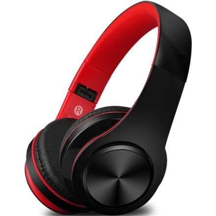Bezdrátová sluchátka S5, černo/červené, 8588006962789