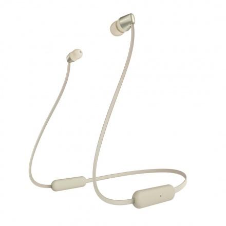 SONY sluchátka WI-C310 bezdr.,zlatá, WIC310N.CE7