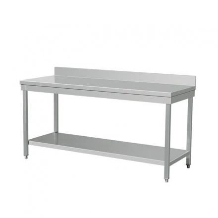 NORDline NSL-12 nerezový stůl se zadním lemem