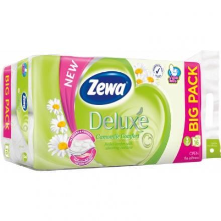 Zewa Deluxe Camomile Comfort 3vrstvý toaletní papír, 19,3 m, 16 rolí
