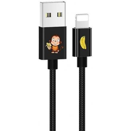 Kabel US-SJ234 U8 Lightning 1,2m černá SJ234USB01