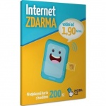 Sim karta Mobil.cz předplacená s kreditem 200Kč 04594