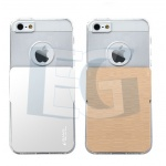 Tpu Usams Ease  gelový a kovový kryt pro Apple iPhone5/5s/se Transparentní+kov 07819