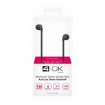 Sluchátka Bluetooth Sport 4-OK SCOOBY Music stereo černé 093142