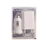 Nabíječka 3v1 pro Apple iPhone 5/6/6/7/8/X Plus (Nabíječka do auta, síťový adaptér, kabel USB) 26501