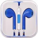 Handsfree/sluchátka univerzální MEGA BASS, modrá 29477