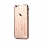 Pouzdro Crystal (Swarovski) Meteor iPhone 6/6S champagne gold