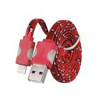 Tel1 SVÍTÍCÍ DATOVÝ KABEL HC-CC32 PRO iPHONE 5 červená