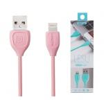 REMAX Kabel USB Lesu RC-050i lighting IPhone 5/6/7 růžová 43220