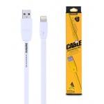 REMAX Kabel USB Full Speed RC-001i Lightning Iphone 5/6/7 1 metr bílá 43227