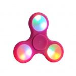 Fidget Spinner LED světelný růžová 45224