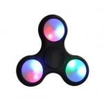 Fidget Spinner LED světelný černá 45225