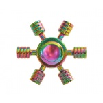 FIDGET SPINNER RAINBOW METALLIC UFO 45353