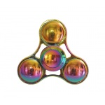 FIDGET SPINNER RAINBOW METALLIC koule 45357