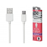 REMAX Kabel USB Light RC-06m 1 metr Micro USB bílá 45422