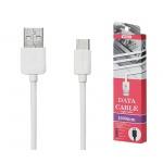 REMAX Kabel USB Light RC-006a 1 metr Micro USB Typ C bílá 45423