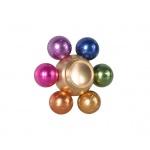 FIDGET SPINNER METALLIC Bomba barevná 45552