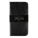 Pouzdro horizontální BOOK SPECIAL Samsung G960 GALAXY S9 černá (pravá italská kůže)