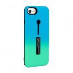 Pouzdro Ring Finger Stand Cover Iphone X modrá-mátová 50621
