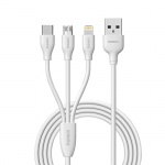 REMAX USB datový Kabel - Suda RC-109th - 3v1 Micro/TypC/Lightining Bílá