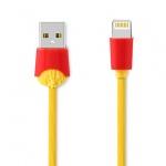REMAX USB datový Kabel - Chips RC-114i - Iphone 5/SE/6/6S/7/8/X Lightning, 1 m, Žlutá