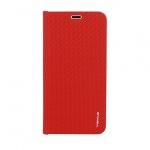 Pouzdro Vennus Book CARBON s kovovým rámem Xiaomi Pocofone F1 červená 53193