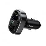 Baseus - FM Vysílač Bluetooth MP3 - nabíječka 2xUSB (CCALL-TM01) Černý