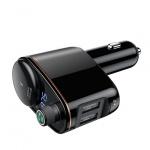 Baseus - Lokomotiva Vysílač Fm Vysílač, Bluetooth-MP3 - USB Nabíječka (CCALL-RH01) Černý