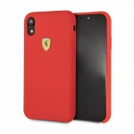Pouzdro originál FERRARI - Hard Case Silicone FESSIHCI61RE  - Iphone XR červená