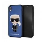 "Pouzdro originál KARL LAGERFELD - Iconic Karl Embossed Hard Case KLHCI65IKPUBL - Iphone XS Max (6,5"") modrá"
