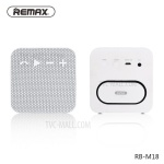 KOMPAKTNÍ Bezdrátový Reproduktor Bluetooth Fabric RB-M18 - Bílá