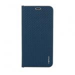 Pouzdro Vennus Book CARBON s kovovým rámem Xiaomi Redmi Note 10/10S modrá 590333233