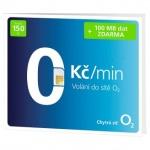 Předplacená SIM karta O2 s kreditem 150 Kč 57859