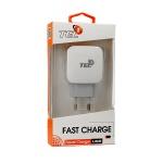 Nabíječka do sítě TEL1 USB 3A Quick Charge 3.0 bílá 5900217283485