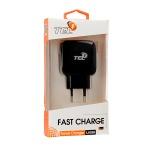Nabíječka do sítě TEL1 USB 3A Quick Charge 3.0 černá 5900217283492