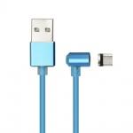 Magnetický kabel Micro USB (nabíjení + přenos dat) modrá 59017377