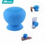 Bezdrátový Bluetooth mini reproduktor Univerzální s přísavkou modrý 60908