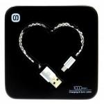 Datový kabel Heart box micro USB bílo-černý 72895