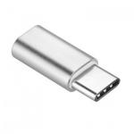Adapter Micro USB - USB Typ-C [PA-30] stříbrná 737419965