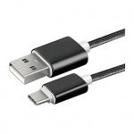 WG datový kabel s konektorem USB Type-C max. 2.1A černá 5676