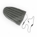 Čepice Forever  s vestavěnými sluchátky. Konektor 3,5 mm jack a 120 cm kabel -šedá 95239