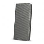 Pouzdro Magnet Carbon Book Huawei P9 Lite (2017) šedá