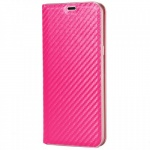 Pouzdro Magnet Carbon Book Huawei P10 Lite růžová
