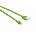 TRUST Flat Micro-USB Cable 1m - lime, 20138